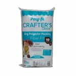 Crafter's Choice® ″Dry″ polyester fiber fill is the perfect choice for stuffing collectible-style dolls and bears. This polyester fiber fill has not been treated with silicone so the fiber has a coarse texture that packs firmly, allowing you to stuff it into small spaces with a stuffing tool without the fiber ″popping″ out of place. A coarse dry fiber that stays in place. Easy to pack in small spaces Non-allergenic. Unconditionally guaranteed. Care: Machine wash on gentle with warm water. Air dry or tumble dry on air or low heat setting. Fiber may shift during laundering. Gently massage the project with fingertips to move the fiber back into place.