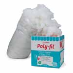 Crafters have made Poly-Fil® the best selling polyester fiberfill in North America. A unique process explodes the special blend of 100% polyester fibers creating an extraordinary resilience that maintains its integrity through countless launderings. Use for all types of craft and home décor projects. Superior resiliency, smooth consistency, will not bunch, non-allergenic, unconditionally guaranteed. Care: Machine wash on gentle with warm water. Air dry or tumble dry on air or low heat setting. Fiber may shift during laundering. Gently massage the project with fingertips to move the fiber back into place. Packaging graphics subject to change. Maintains integrity through countless launderings.