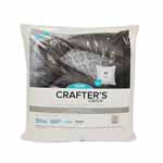 Crafter's Choice® inserts are quality pillow forms that are soft, supportive and economically priced. They are available in a variety of square sizes and feature a durable 100% polypropylene cover and 100% polyester fiberfill interior. They work well for craft projects and needlepoint or knit pillows as they have a medium firmness and a flatter appearance. Soft, supportive and economically priced.