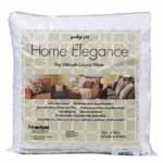 Home Elegance<sup>TM</sup> Pillow Inserts have a 100% cotton, 300-thread count jacquard cover filled with a special 100% microdenier polyester gel fiber. The result is an exceptionally plush textured pillow with a high-end designer look. These are the most elite, luxurious down-alternative pillows available. A soft, luxurious pillow for lounging comfort!  Spot cleaning recommended.