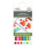 These archival quality water & pigment based markers are fade-proof and ideal for crafts on paper, cardboard, wood, etc. Acid-free and non-toxic. Gorgeous matte and solid colours for both writing and painting. Colours included: red, pink, orange, sky blue, yellow green and white.