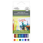 Add dazzling glitter to your arts and crafts! These archival quality water-based glitter markers are fade-proof and ideal for works on paper, cardboard, wood, etc. Glitter colours included: red, yellow, green, sky blue, violet and silver