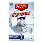 DYLON Renovator White adds whiteness and removes ingrained stains from your wash. Its three active stain removing ingredients get to work on stains such as coffee, wine, blood, perspiration, grass, make-up, etc. Ideal for reviving dull whites. Bleach free and safe to use on most fabrics (NOT suitable for wool or silk).