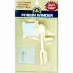 Plastic winder used to wind floss, ribbon, threads or yarn onto cardboard or plastic bobbins for easy storage. DMC Art. 6104/6.