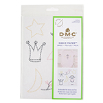 Embroider the items you love with DMC. These patterns can be stitched/embroidered on anything and everything - from a hooped wall hanging, a plain tote bag, a cushion cover, or a basic tee to name a few. It's never been so easy to embroider it yourself - all you've got to do is cut out the pattern, stick it to the fabric of your choice, and start stitching! When your DIY is done, rinse it all off - the magic paper will dissolve in a few seconds, and you'll be left with your wonderful embroidery piece. 1 sheet of magic paper printed in 3 colours (A4 format).