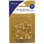 These traditional safety pins can be used for sewing, quilting and crafts. Brass safety pins are rust resistant.