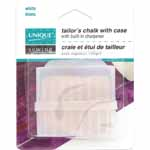 Chalk square in a plastic case with built-in sharpener.