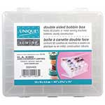 This handy, spill-proof plastic case is double sided and can hold up to 50 metal or plastic machine bobbins. An ideal solution for preventing tangled threads and keeping your bobbins organized and accessible. Secure hinges and latches ensure your bobbins stay in place.12 x 11 x 4.7 cm (4 3/4″ x 4 1/4″ x 1 3/4″)
