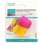 Soft, pliable, lightweight thimbles are comfortable and fit most finger sizes. 2 sizes included: 17 and 18.