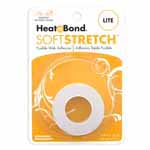 HeatnBond Soft Stretch<sup>TM</sup> Lite is a sewable, permanent, lightweight iron-on web adhesive specially designed to move with your stretch fabric while maintaining a strong bond! There is no added bulk and maintains a soft hand after fusing. Great to use with appliques, knits, stretch denim, spandex, jersey fabrics, fleece and flannel. Machine wash cold delicate cycle and tumble dry on low heat or no heat. Dry Cleanable. Avoid repeated or excessive ironing to the area after fusing. 16mm x 9.1m (<sup>5</sup>⁄<sub>8</sub>″ x 10yd) tape.