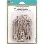These traditional safety pins can be used for sewing, quilting and crafts. The curved pin helps make basting quilts easy and ensures that the layers never shift.