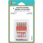 Universal Needles have a slightly rounded point. They can be used on woven and knit fabrics and are a great general purpose needle.