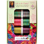 Ten spool Sulky 30wt. Blendable<sup>TM</sup> Cotton Thread Collection. Includes a FREE leaf design from the book ″Quick and Easy Weekend Quilting with Sulky″..
