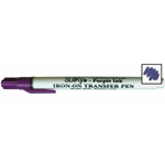 Here is a Transfer Pen that easily transfers designs permanently onto fabric, canvas, stabilizers, wood or just about any surface where a hot iron can be used. Perfect for fabric painting, needlepunch, hand embroidery, appliqué, and many more crafty techniques.