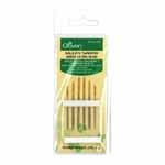 These needles have blunt points ideal for slipping between fabric, yarn and ribbons without splitting fibers. Use with wool, thick embroidery cotton, ribbons on canvas or open mesh fabrics. Used in ribbon work to prevent snagging. Includes needle no. 18, 20, 22.