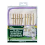 Includes 9 hooks, 5 stoppers and 5 cords. Light in weight with a warm, natural touch, bamboo is the ideal material for crochet hooks. The seamless joint between parts is smooth and even, making for easy and effortless crochet. Hook sizes: 3.5, 3.75, 4.0, 4.5, 5.0, 5.5, 6.0, 6.5 and 8.0mm. Cord sizes: 16″, 24″, 29″, 36″ and 48″.