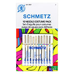 Join the Cosplay Craze! Whether sewing wovens, knits or mystery fabrics, the Schmetz Costume needle pack has a needle appropriate for every costumes and cosplay project. Includes three Universal Needles (80/12, 90/14), two Stretch Needles (75/11, 90/14), two Jeans Needles (90/14, 100/16), two Microtex Needles (70/10, 80/12) and one Topstitch Needle (90/14).