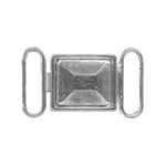 ELAN Rectangle Clasps offer a decorative solution for fastening loose ends on a belt or garment.