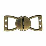 ELAN Circle Clasps offer a decorative solution for fastening loose ends on a belt or garment.