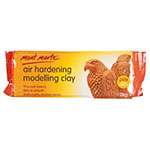 Mont Marte Air Hardening Clay is great for many crafting projects. Air Hardening Modelling Clay does not need to be heated is suited. From student to artists and professional modellers, Mont Marte Air Hardening Clay is a perfect choice. This clay hardens at normal room temperature, dries in around 24hrs to earthenware hardness (depending on thickness). This heavy bodied clay is pliable after kneading, and because it is slow drying you can take your time forming it into your desired design.