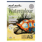 Mont Marte Watercolour Pads German paper has 12 sheets of 300gsm, Acid-free paper and is made in medium tooth textured paper. This pad is fantastic for professionals who like to try out new art techniques but also for students and beginners with no prior experience but also. The sheets are supported by a 2mm thick backing board.